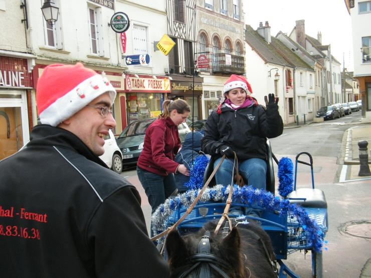 Baptêmes en attelage dans les rues de Courville sur Eure / Noël 2013